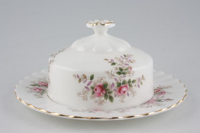 "Royal Albert Lavender Rose Muffin Dish + Lid Use 6 1/4"" Plates as base 6 1/4"""