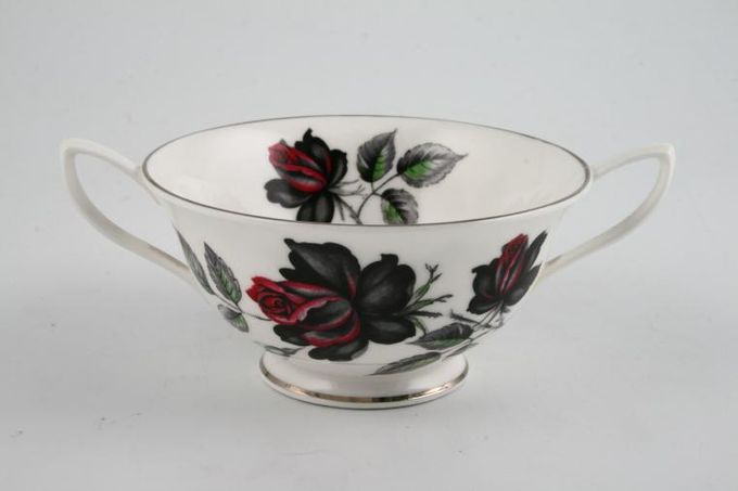 Royal Albert Masquerade Soup Cup Floral.Silver rim