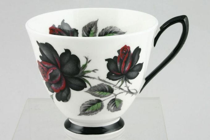 "Royal Albert Masquerade Teacup Black Handle 3 3/8 x 3"""