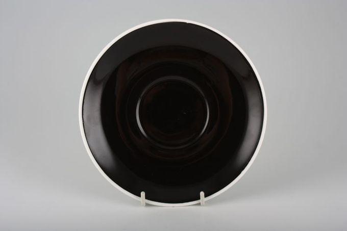 "Royal Albert Masquerade Tea Saucer black 5 1/2"""