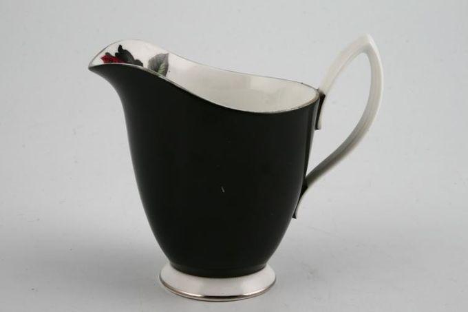 Royal Albert Masquerade Milk Jug black with silver edge 1/2pt