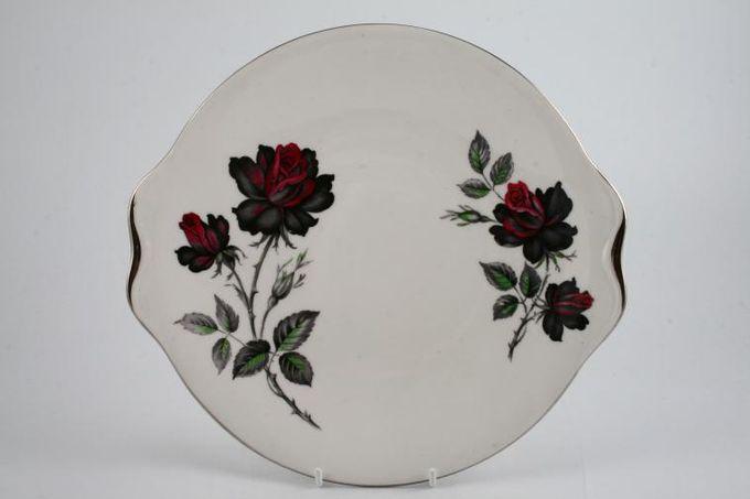 "Royal Albert Masquerade Cake Plate silver rim - round 9 3/8"""