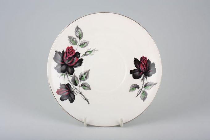 """Royal Albert Masquerade Tea Saucer silver rim 5 1/2"""""""