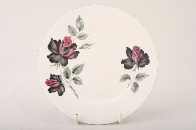 """Royal Albert Masquerade Tea / Side / Bread & Butter Plate floral with silver rim 6 1/4"""""""