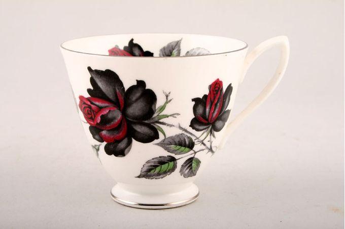 """Royal Albert Masquerade Teacup silver edge, white handle 3 3/8 x 3"""""""