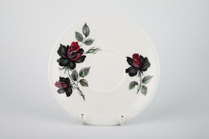 "Royal Albert Masquerade Soup Cup Saucer Floral - Plain Edge 6 1/4"""