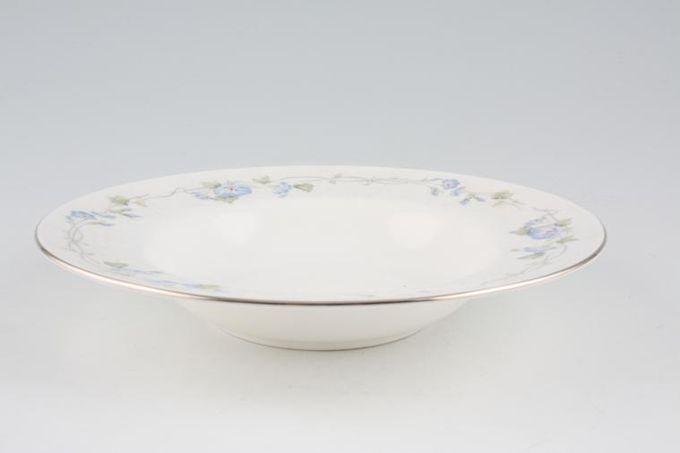 """Royal Albert Morning Flower Rimmed Bowl 8 1/4"""""""
