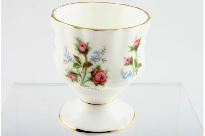 """Royal Albert Moss Rose Egg Cup Footed 1 3/4 x 2 1/8"""""""