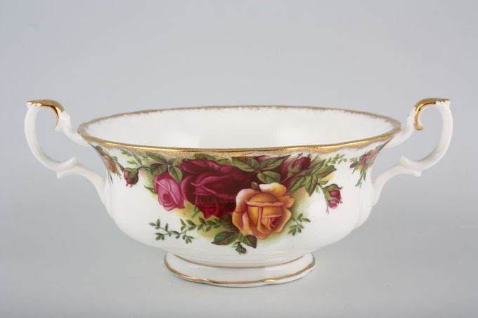Royal Albert Old Country Roses - Made in England Soup Cup With Two Handles