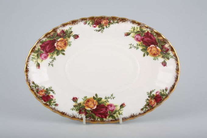 Royal Albert Old Country Roses - Made in England Sauce Boat Stand 8 1/2""