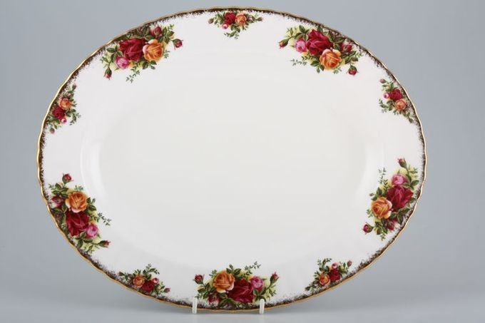 Royal Albert Old Country Roses - Made in England Oval Plate / Platter 13 3/4""