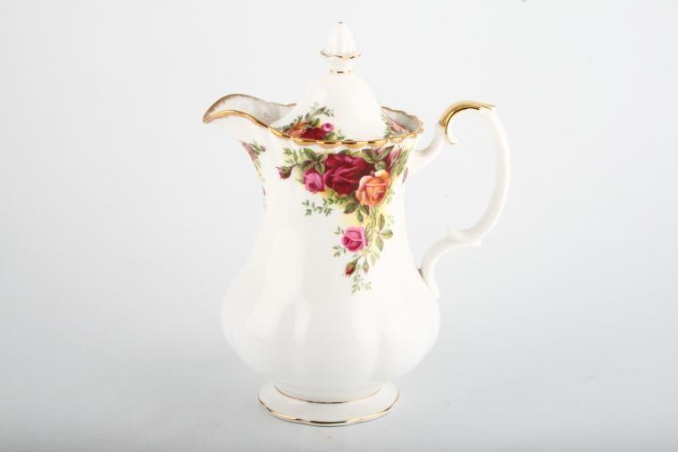 Royal Albert - Old Country Roses - Backstamp No.1 - Hot Water Jug - Lidded