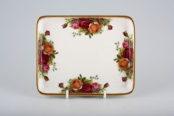 """Royal Albert Old Country Roses - Made in England Dish (Giftware) Shallow 6 1/4 x 5"""""""