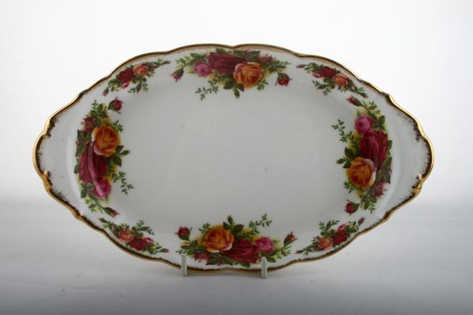 """Royal Albert Old Country Roses - Made in England Dish (Giftware) Oval - Eared 10"""""""
