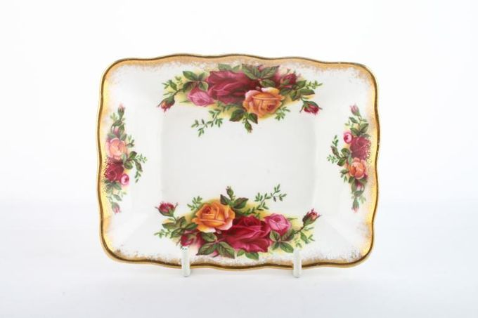 Royal Albert Old Country Roses - Made in England Dish (Giftware) Oblong / Sweet Dish 5 x 3 3/4""