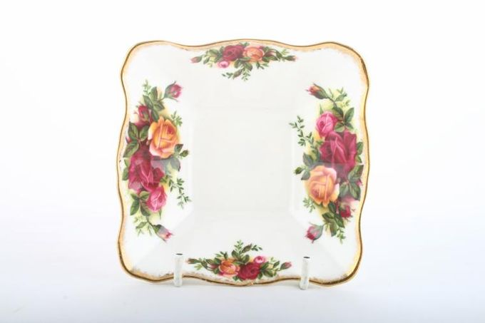 Royal Albert Old Country Roses - Made in England Dish (Giftware) Square 4 1/2 x 4 1/2""