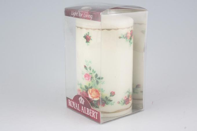 """Royal Albert Old Country Roses - Made in England Candle 4 1/4"""""""