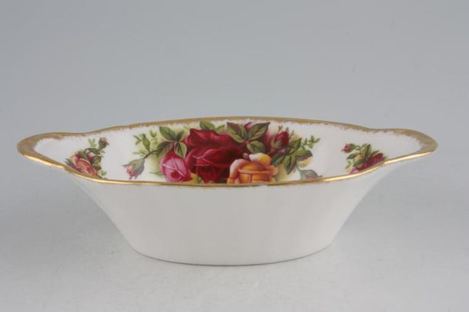 Royal Albert Old Country Roses - Made in England Dish (Giftware) Oval - Eared 5 3/4 x 3 1/2""