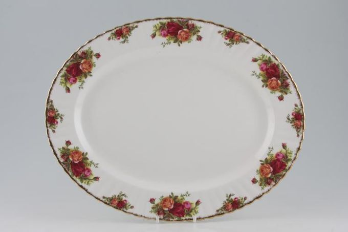 """Royal Albert Old Country Roses - Made in England Oval Plate / Platter 15"""""""
