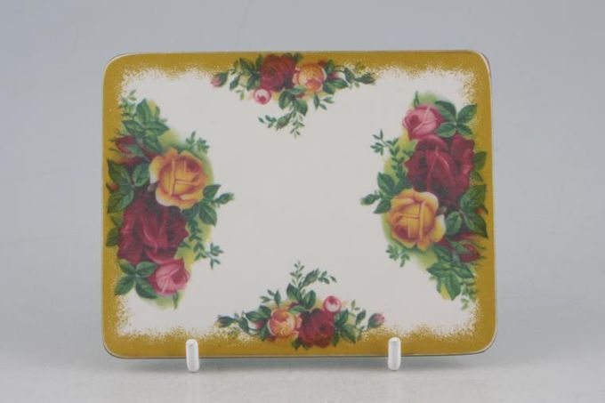 """Royal Albert Old Country Roses - Made in England Coaster Cork Backed, No backstamp 4 1/2 x 3 1/2"""""""