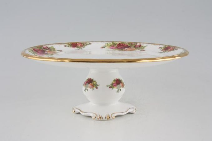 """Royal Albert Old Country Roses - Made in England Cake Stand Footed 9"""""""