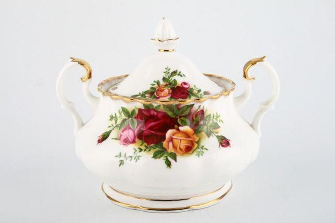 Royal Albert Old Country Roses - Made in England Sugar Bowl - Lidded (Tea) 2 handles