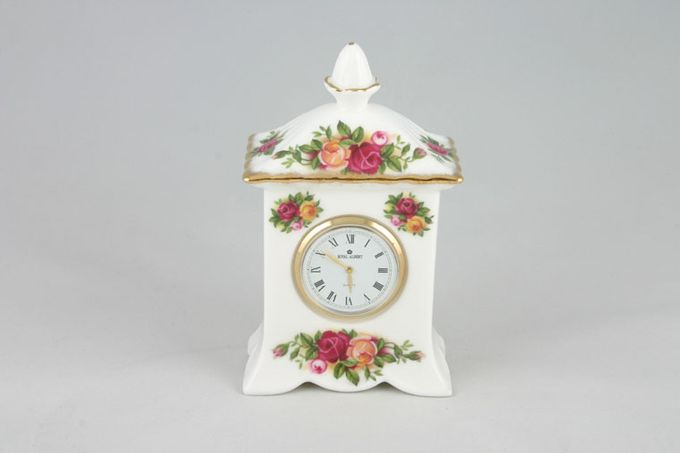 Royal Albert Old Country Roses - Made in England Clock Small carriage Clock 2 3/4 x 4 1/2""