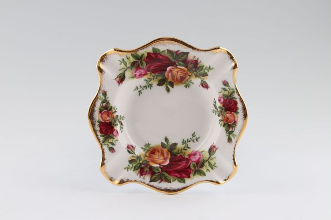 """Royal Albert Old Country Roses - Made in England Ashtray 4 3/4 x 4 3/4"""""""