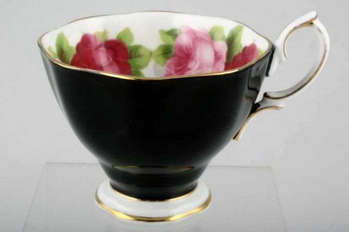 Royal Albert Old English Rose - New Style Teacup Black outside 3 1/2 x 2 3/4""