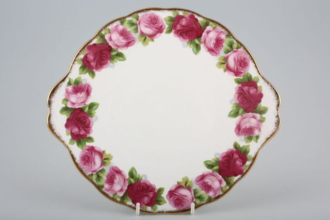 Royal Albert Old English Rose - New Style Cake Plate Round.Eared 10""