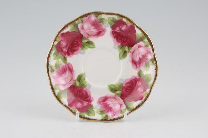 """Royal Albert Old English Rose - New Style Coffee Saucer 5"""""""