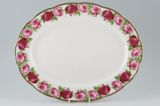 """Royal Albert Old English Rose - New Style Oval Plate / Platter 15"""""""