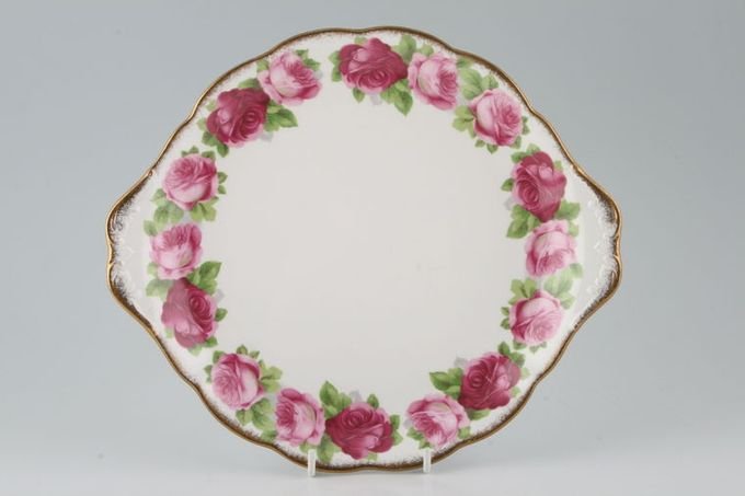 """Royal Albert Old English Rose - New Style Cake Plate round. eared 10 1/2"""""""