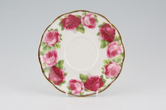 """Royal Albert Old English Rose - New Style Soup Cup Saucer 6 1/4"""""""