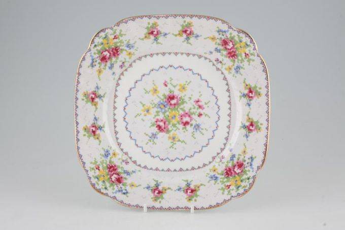 """Royal Albert Petit Point Breakfast / Lunch Plate Square 8 3/4"""""""