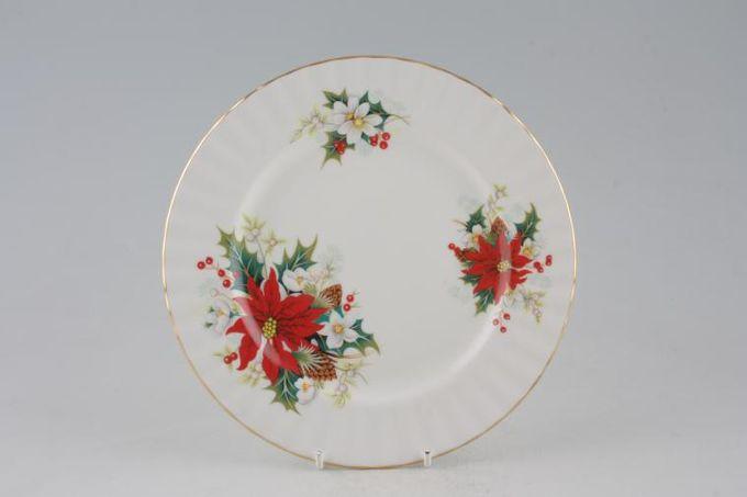 "Royal Albert Poinsettia Starter / Salad / Dessert Plate 8 1/4"""