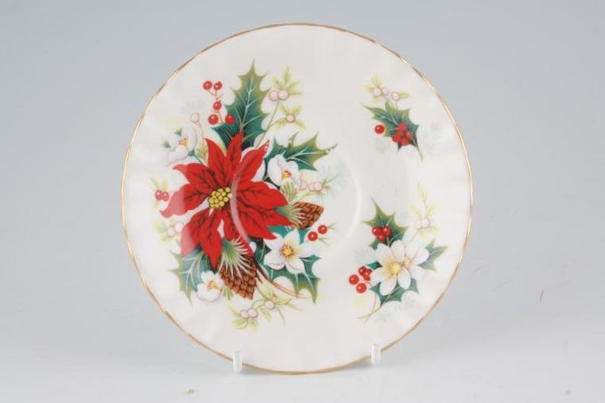 "Royal Albert Poinsettia Tea Saucer 5 1/2"""