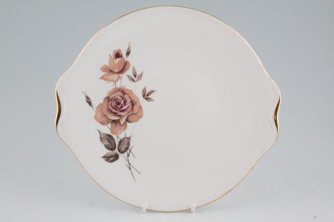 "Royal Albert Prelude Cake Plate Round eared 9 1/2"""