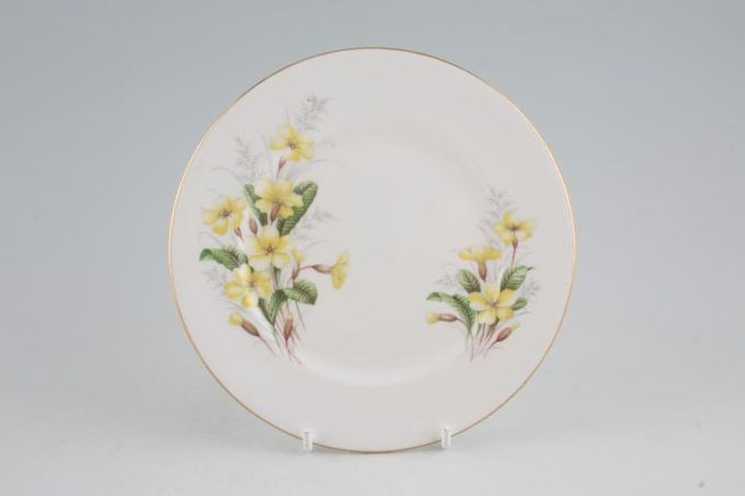 "Royal Albert Primrose Tea / Side / Bread & Butter Plate Straight Edge 6 1/4"""