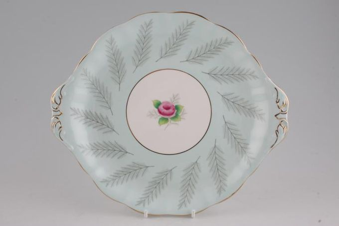 "Royal Albert Rosamund Cake Plate 10 1/2"""
