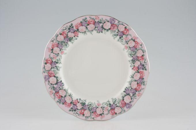 "Royal Albert Rose Garland Salad/Dessert Plate 8 1/4"""