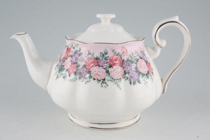Royal Albert Rose Garland Teapot Plain Lid 2pt
