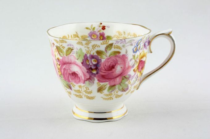 Royal Albert Serena Teacup most of pattern on outside of cup 3 1/4 x 2 3/4""