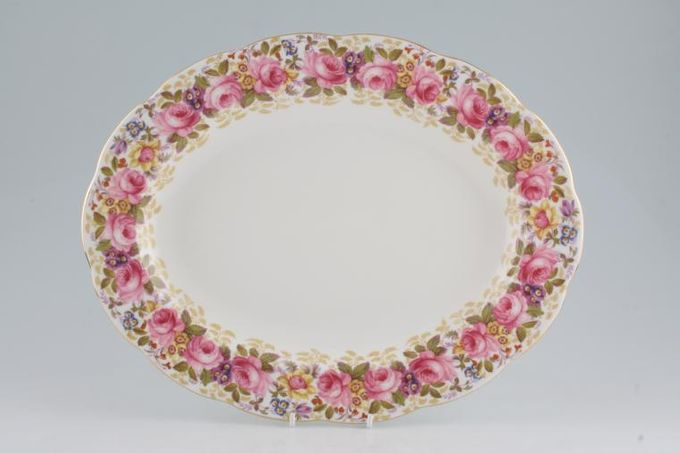 Royal Albert Serena Oval Plate / Platter 13 3/4""