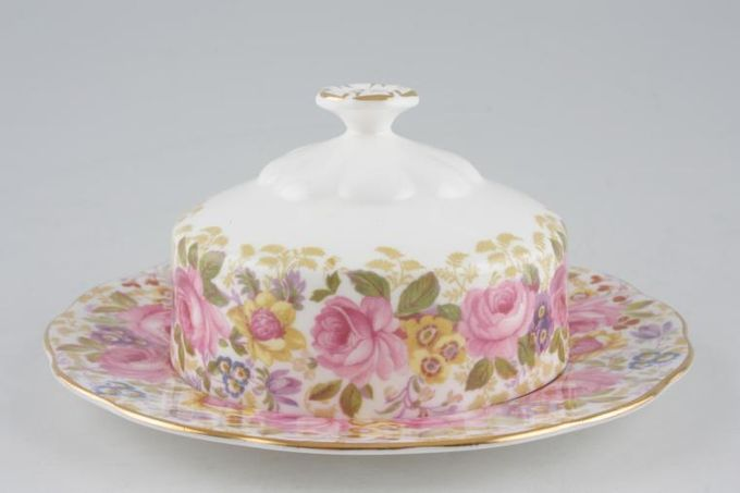 """Royal Albert Serena Muffin Dish + Lid Use 6 1/4"""" Plates as base 6 1/4"""""""