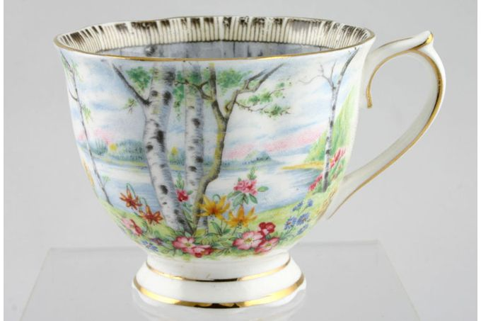 Royal Albert Silver Birch Teacup 3 1/4 x 2 5/8""
