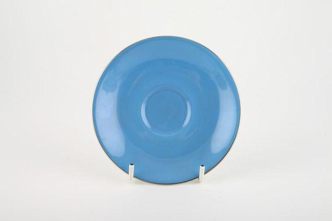 "Royal Albert Sorrento - Silver Edge Coffee Saucer Blue 5"""