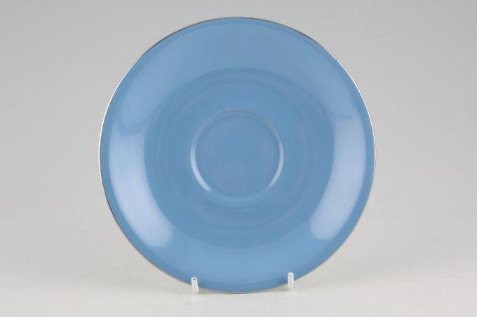 "Royal Albert Sorrento - Silver Edge Breakfast Saucer 6 1/4"""