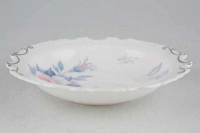 "Royal Albert Sorrento - Silver Edge Dish (Giftware) Round 5 3/4"""