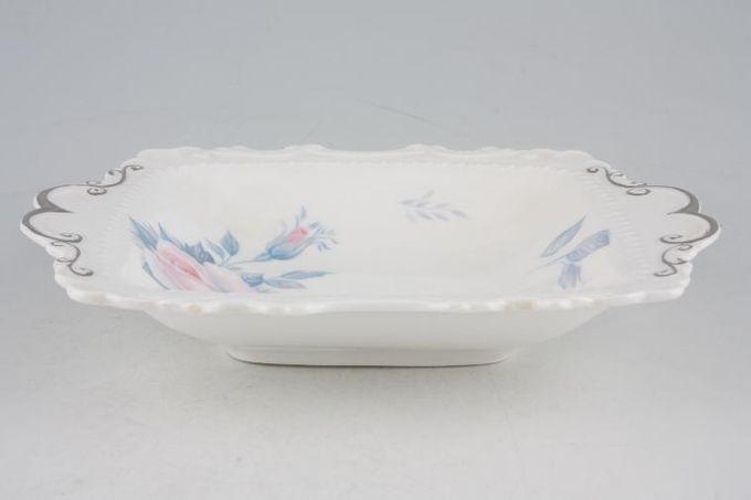 "Royal Albert Sorrento - Silver Edge Dish (Giftware) 7 x 6"""